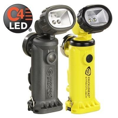 Akumulatorowa latarka kątowa Knucklehead Flood, kol. żółty, 200 lm