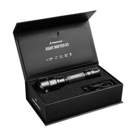 Akumulatorowa latarka taktyczna Mactronic NIGHT HUNTER 03, 1150lm
